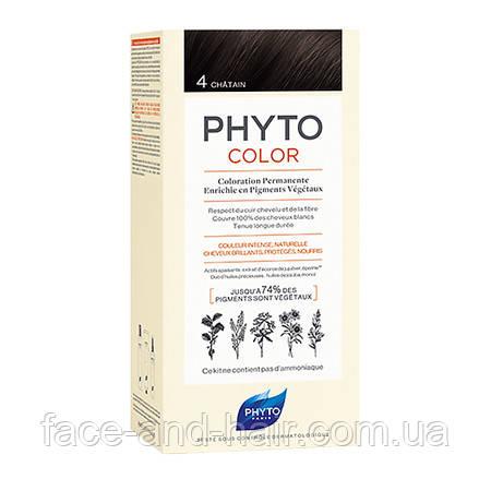 Крем-краска Фито Фитоколор Phyto PHYTOCOLOR тон 4 шатен