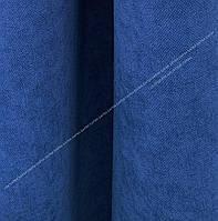 Шторная ткань, однотонная ткань для штор на метраж Далтон в синем цвете индиго