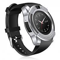 Умные часы Smart Watch GSM Camera V8, сильвер