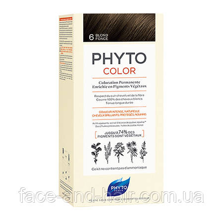 Крем-краска Фито Фитоколор PHYTO Phytocolor тон 6 темно-русый