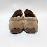 44 р. Чоловічі мокасини туфлі літні бежеві з екошкіри остання пара, фото 7