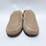 44 р. Чоловічі мокасини туфлі літні бежеві з екошкіри остання пара, фото 3