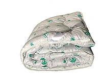 Одеяло полуторное Алое-вера LaBella 150x210см.  Тёплое одеяло, наполнитель овечья шерсть   Ковдра шерстяна