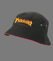 Черная летняя панама Thrasher / трешер мужская панамка