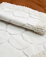 """Комплект ковриков для ванной Zeria home """"Bamboo"""", белый"""