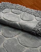 """Комплект ковриков для ванной Zeria home """"Bamboo"""", серый"""