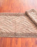 """Комплект ковриков для ванной Zeria home """"Bamboo"""", коричневый"""