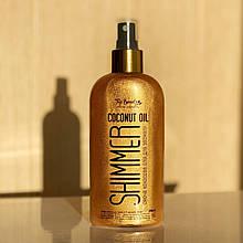Кокосова олія для засмаги з шиммером Top Beauty Shimmer Coconut Oil