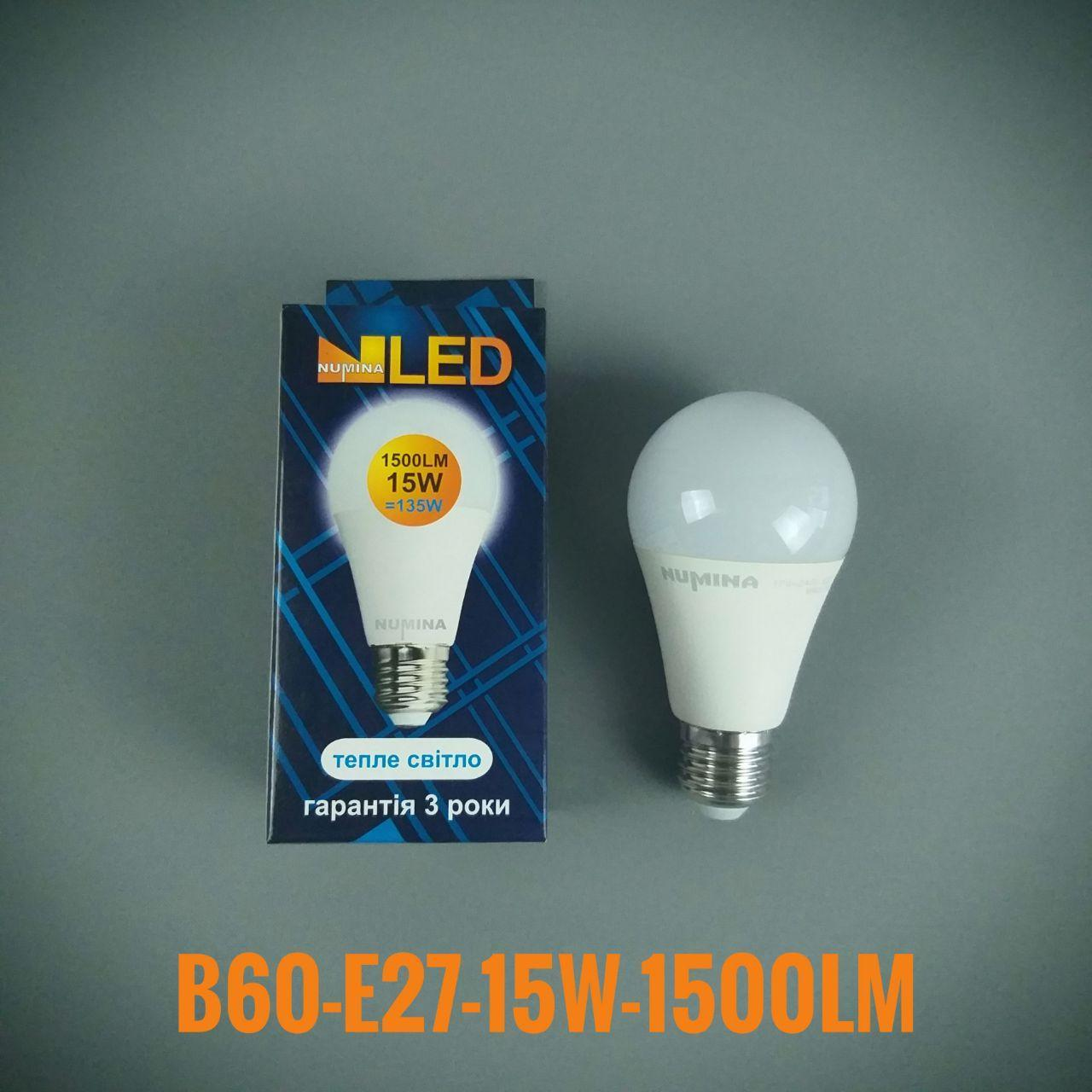 Светодиодная лампочка LAMP PREMIUM B60AP 15W E27 3000K 270