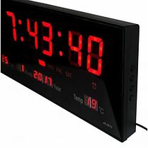 Кімнатні електронні світлодіодні настінні годинники LED NUMBER CLOCK 3615 RED, фото 3