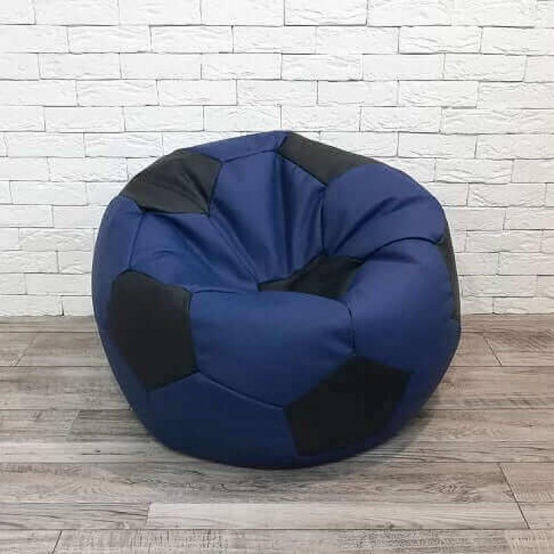 Кресло-мяч экокожа синий KatyPuf, Размер 130см