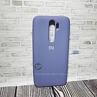 Силиконовый чехол для Xiaomi Redmi Note 8 Pro светло-серый  Originall Full Cover
