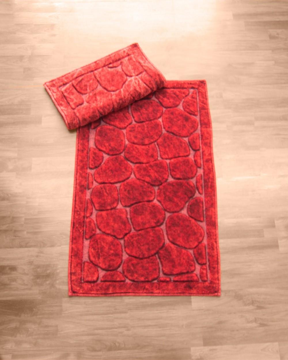 """Комплект килимків для ванної Zeria home """"Bamboo"""", червоний"""