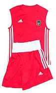 Боксерская форма Адидас (Adidas) Комплект из 2 форм! С гербом Украины (UKR) красная и синяя, фото 3