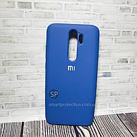 Силиконовый чехол для Xiaomi Redmi Note 8 Pro синий кобальт  Originall Full Cover