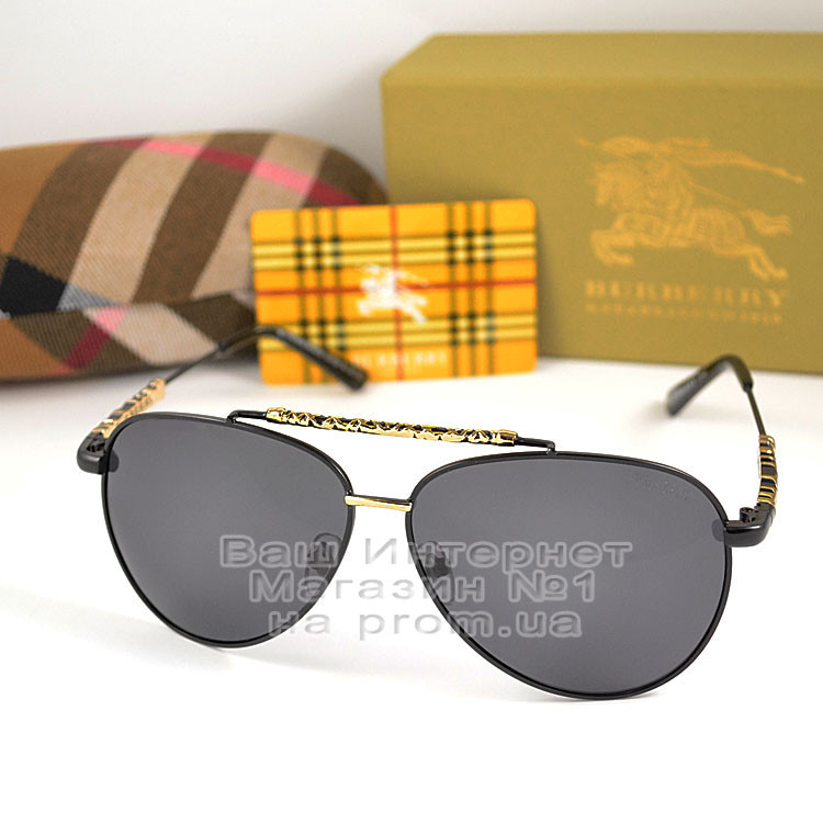 Мужские солнцезащитные очки Burberry 2020 Авиаторы с поляризацией для водителей Поляризационные Барбери копия