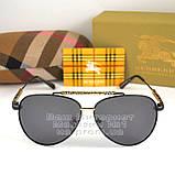 Мужские солнцезащитные очки Burberry 2020 Авиаторы с поляризацией для водителей Поляризационные Барбери копия, фото 6