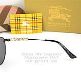 Мужские солнцезащитные очки Burberry 2020 Авиаторы с поляризацией для водителей Поляризационные Барбери копия, фото 5