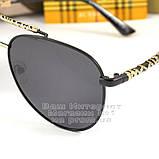 Мужские солнцезащитные очки Burberry 2020 Авиаторы с поляризацией для водителей Поляризационные Барбери копия, фото 2