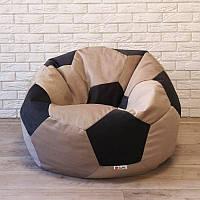 Кресло-мяч велюр коричнево-черный KatyPuf, Размер 100см