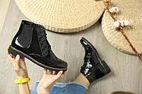 Демисезонные женские лакированные ботинки