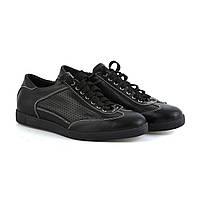 Женские кожаные туфли черного цвета