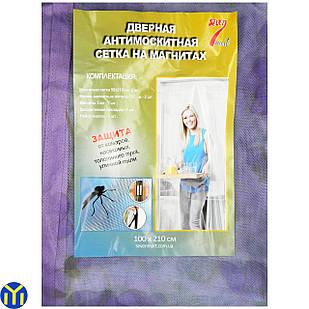 Сетка от комаров на дверь на магнитах, 210х100см., с Рисунком