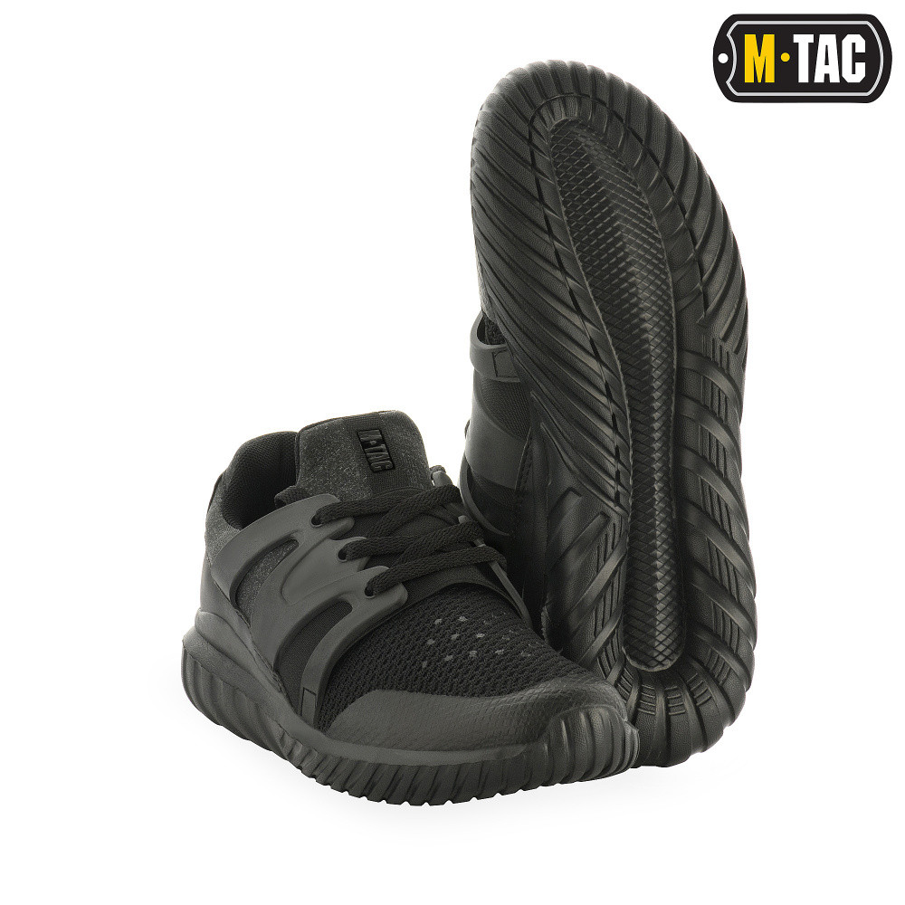 Кроссовки мужские тактические, обувь тактическая, кроссовки М-ТАС TRAINER PRO VENT BLACK, обувь мужская спорт