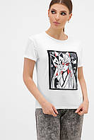 Женская белая 3D футболка с аниме