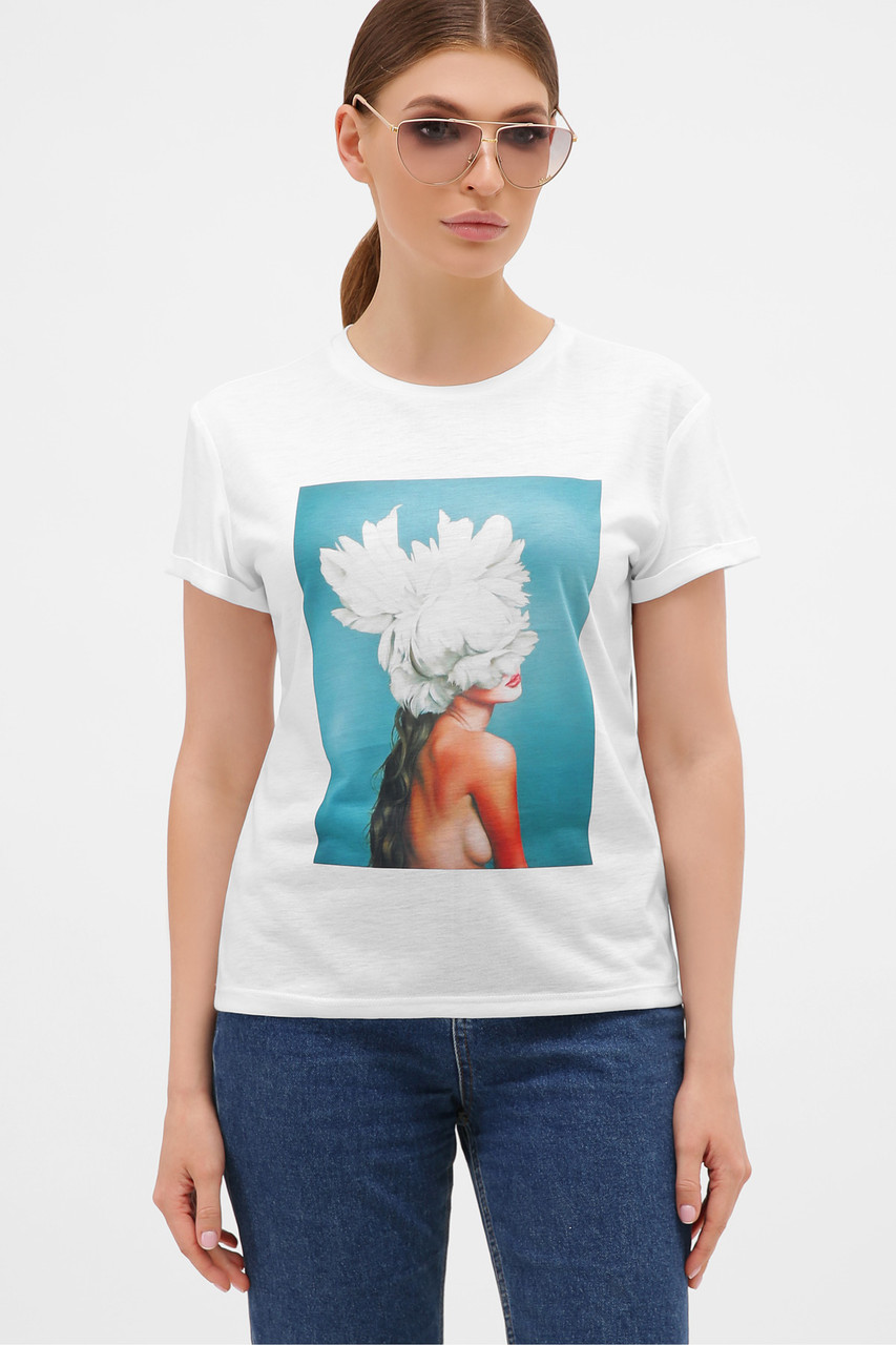 Женская белая 3D футболка, модная футболка