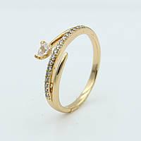 Кольцо для девушек с камнями Алира, позолота