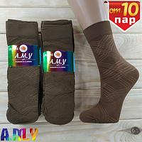 Капроновые носки женские  A.M.Y fashion classic 100Den мокко большой ромб НК-2799