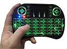 Блютуз с тачпадом и подсветкой для смарт с русской раскладкой ТВ keyboard MWK08/I8 LED TOUCH, фото 3