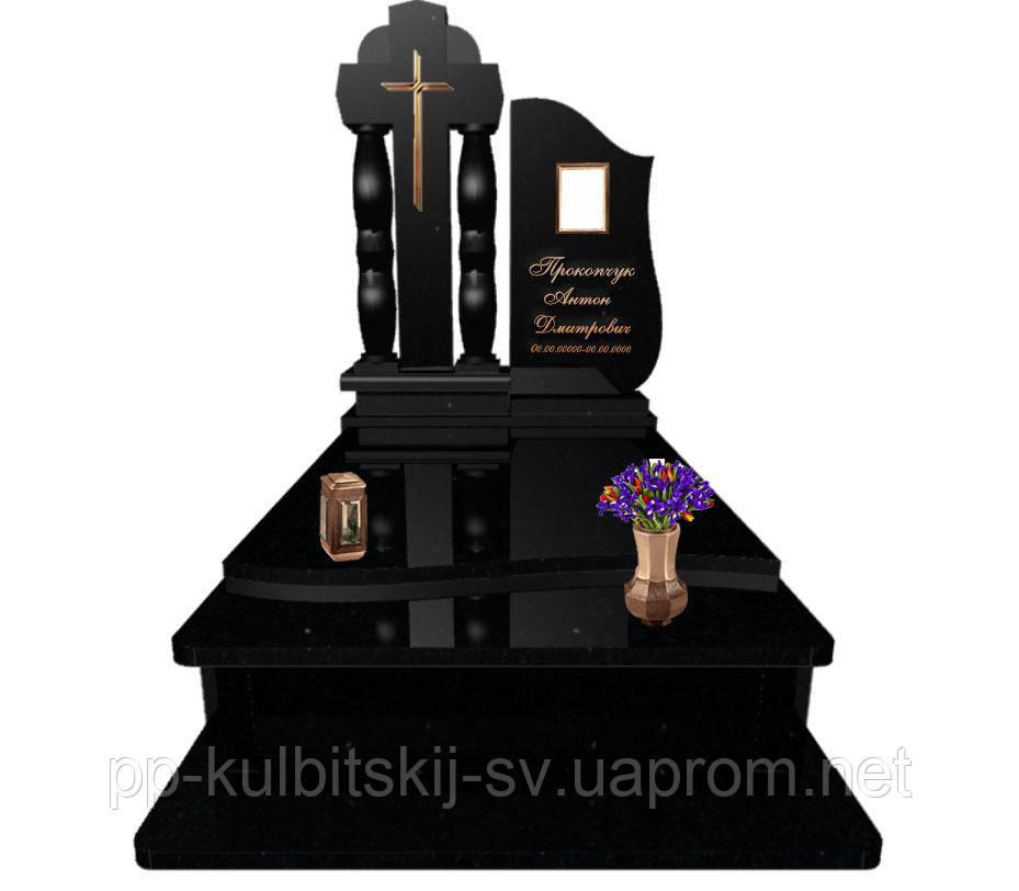 Пам'ятник з чорного гранітну L5049/ч