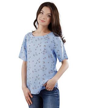 Легка жіноча футболка вільна (розміри XS-2XL)