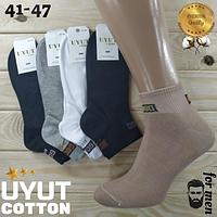 Носки мужские средние деми UYUT men cotton socks хлопок 41-47р.бесшовные с двойной пяткой ассорти НМД-0510185