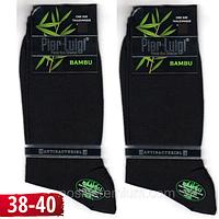 Носки мужские высокие Pier Luigi Турция 38-40р  бамбук чёрные антибактериальные без шва  НМД-0510255