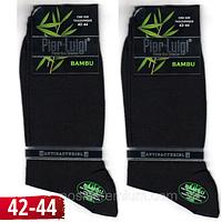 Носки мужские высокие Pier Luigi Турция 42-44р  бамбук чёрные антибактериальные без шва  НМД-0510256