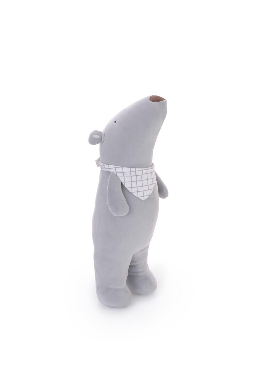 Мягкая игрушка - подушка Мишутка серый, 53 см