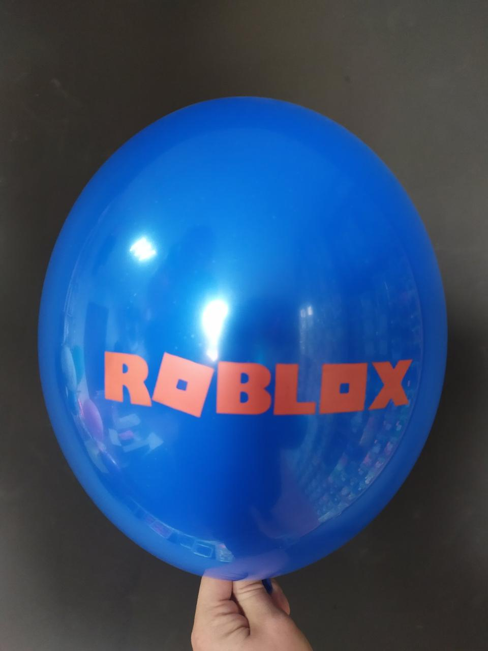 """Латексна кулька з малюнком Roblox синій 022 12"""" 30см Belbal ТМ """"Star"""""""