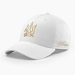 Женская кепка бейсболка INAL с cимволикой Украины M / 55-56 RU Белый 28655