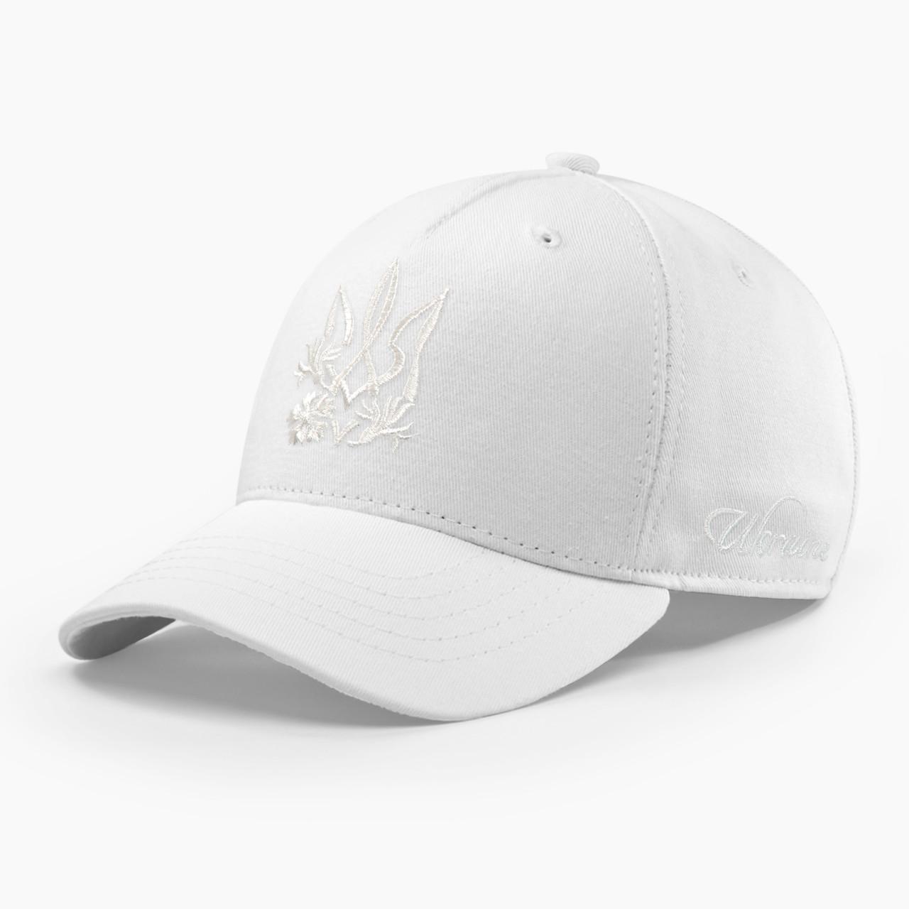 Женская кепка бейсболка INAL с cимволикой Украины M / 55-56 RU Белый 28755