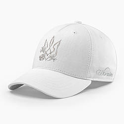 Женская кепка бейсболка INAL с cимволикой Украины M / 55-56 RU Белый 39755