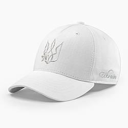 Женская кепка бейсболка INAL с гербом Украины M / 55-56 RU Белый 40655
