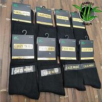Носки мужские демисезонные 100% бамбук средние черные без шва Calze Moda размер 41-44 НМД-0510808, фото 1