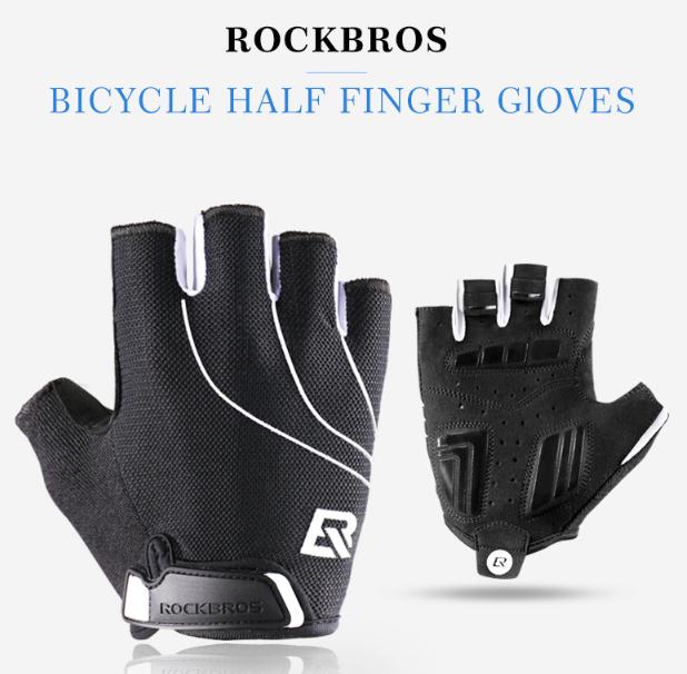 Рукавички велосипедні без пальців гелієві М, 7.7-8.7 см, RockBros S107