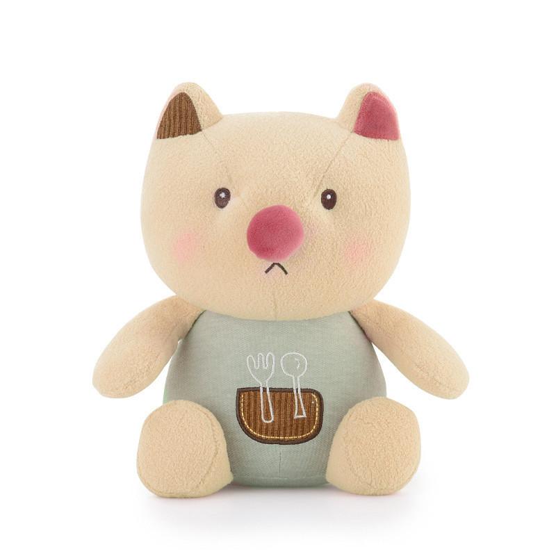 Мягкая игрушка Кот - обжора, 21 см