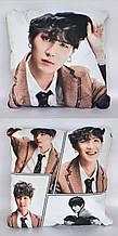 Подушка k-pop 40х40 см із змінною наволочкою BTS - Suga