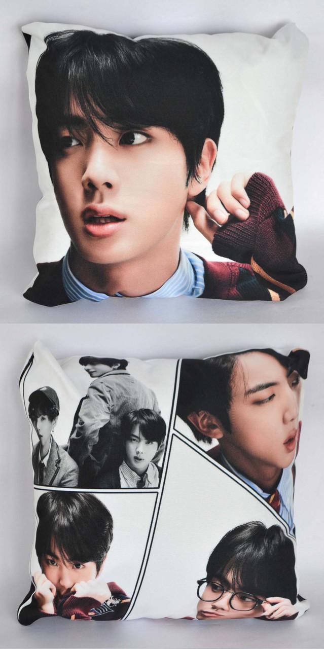 Подушка k-pop 40х40 см із змінною наволочкой BTS - Jin