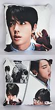 Подушка k-pop 40х40 см із змінною наволочкою BTS - Jin